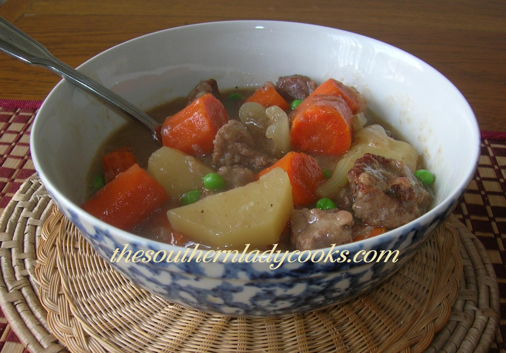 Beef Stew In Crockpot  CROCKPOT BEEF STEW