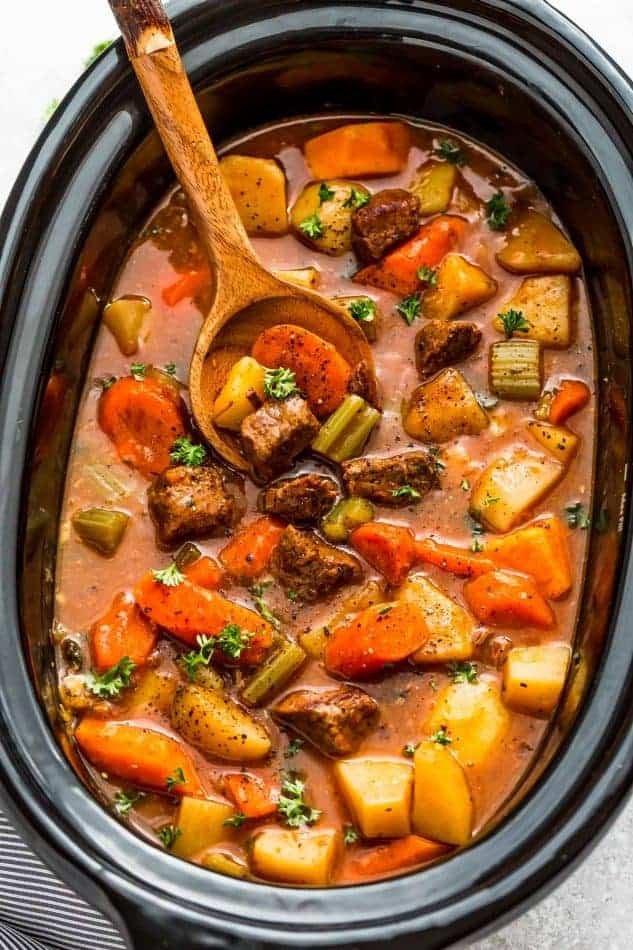 Beef Stew In Crockpot  Easy Old Fashioned Beef Stew Recipe Made in the Slow Cooker