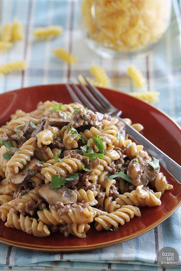 Beef Stroganoff With Ground Beef  e Pot Ground Beef Stroganoff Taste and Tell