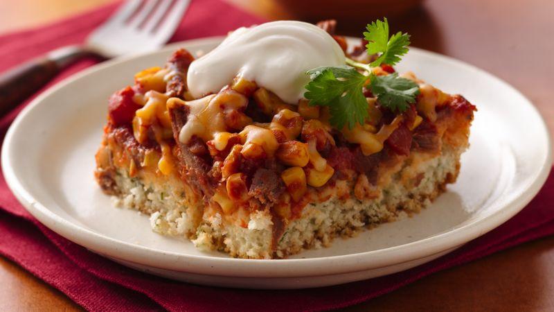 Beef Taco Casserole  Beef Taco Bake recipe from Betty Crocker