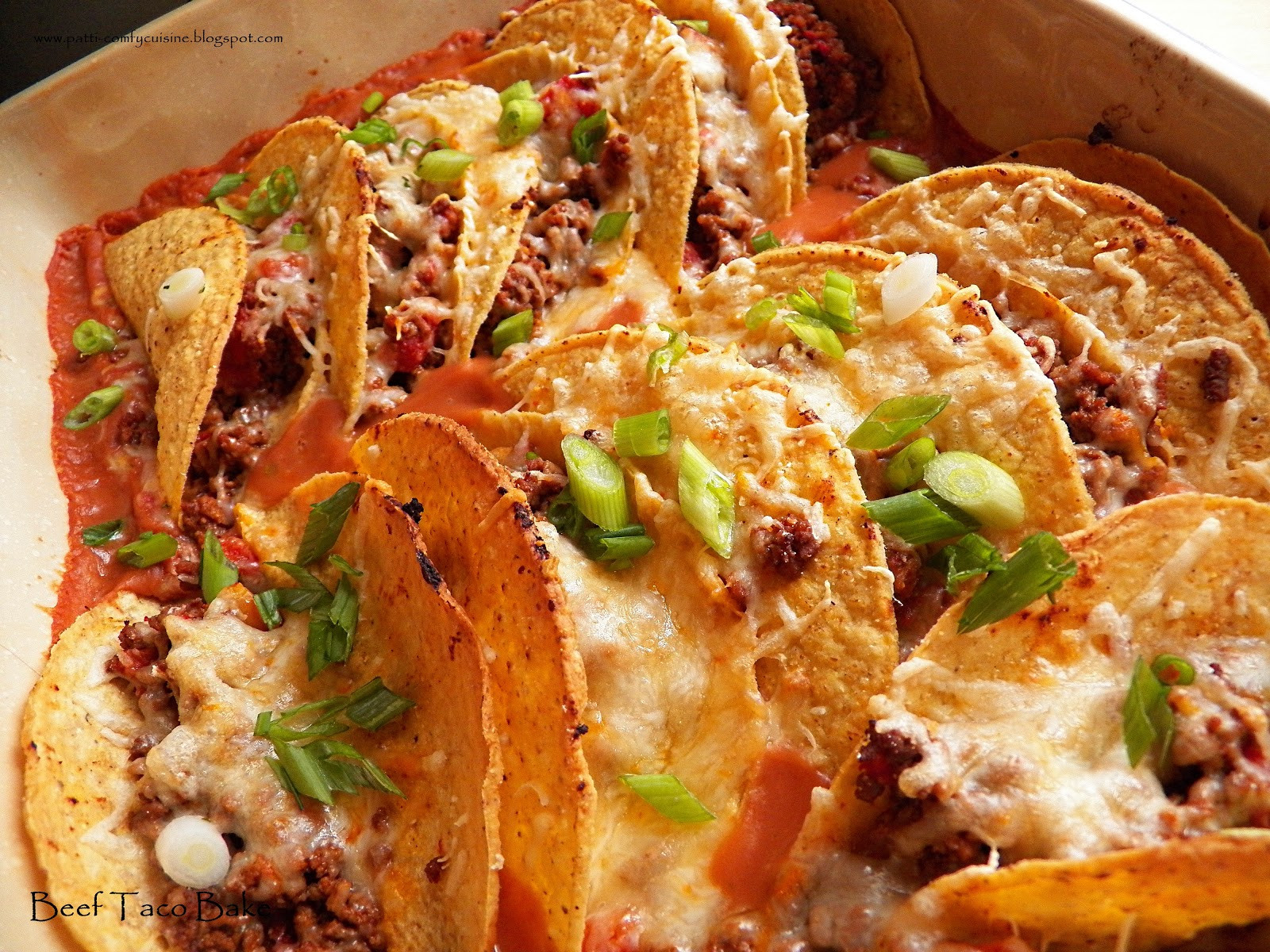 Beef Taco Casserole  fy Cuisine Home Recipes from Family & Friends Beef