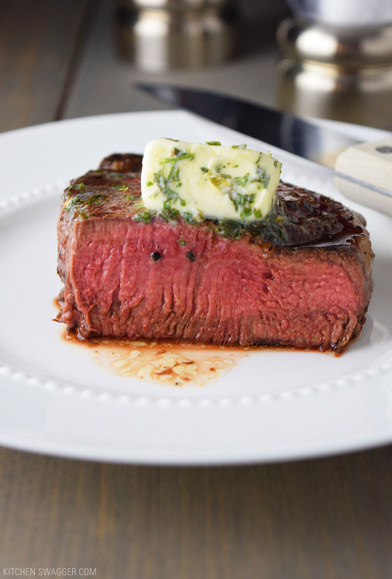 Beef Tenderloin Filet Mignon  Pan Seared Filet Mignon with Garlic & Herb Butter Recipe