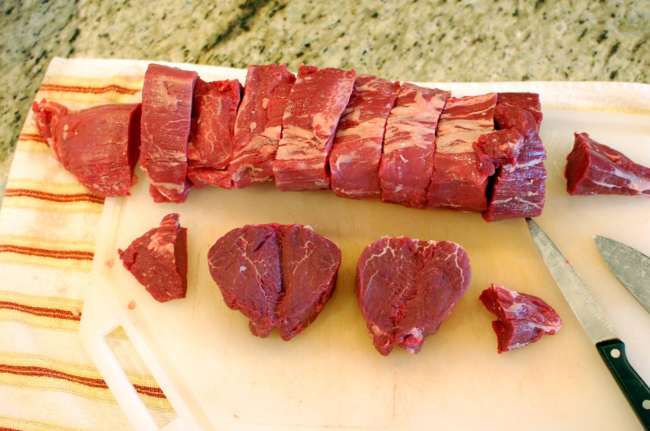 Beef Tenderloin Filet Mignon  How to butcher trim and cut a whole beef tenderloin a k
