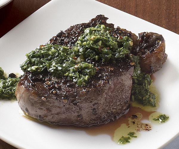 Beef Tenderloin Recipes  Black Pepper Crusted Beef Tenderloin with Chimichurri