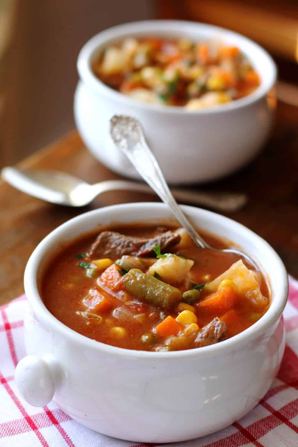 Beef Vegetable Soup  Ve able Beef Soup
