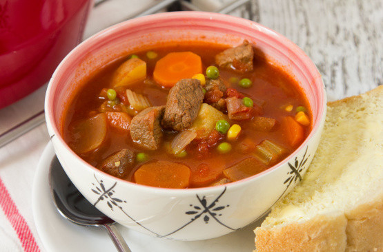 Beef Vegetable Soup  Old Fashioned Ve able Beef Soup Recipe Genius Kitchen