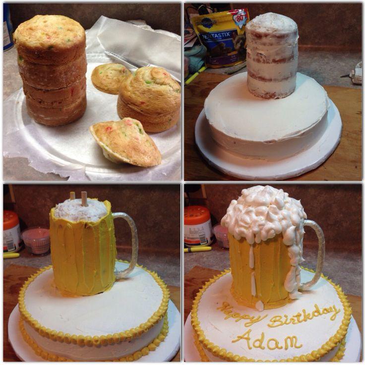 Beer Mug Cake  Beer mug cake Food Pinterest