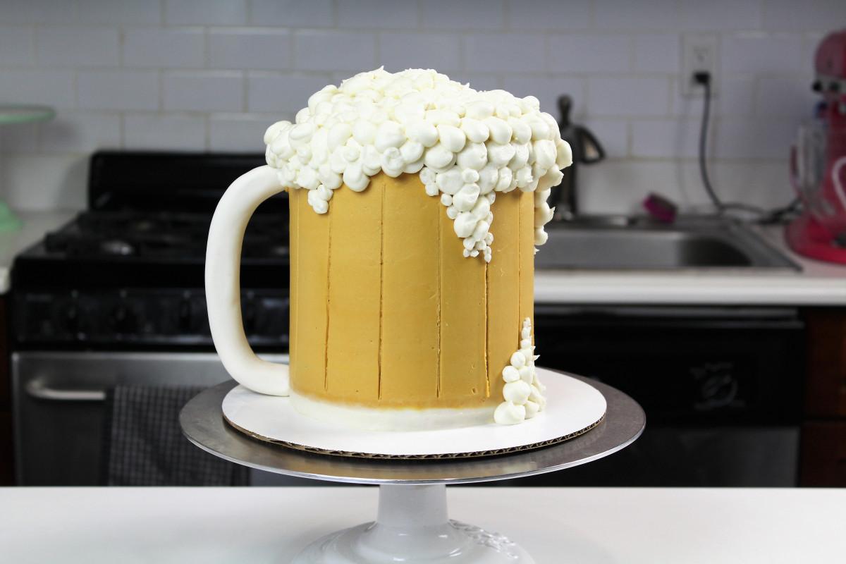 Beer Mug Cake  Chelsweets Beer Mug Cake Chelsey White