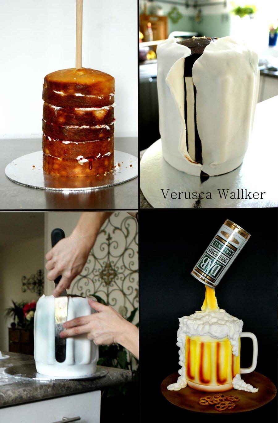 Beer Mug Cake  Beer Jar Cake by Verusca on DeviantArt