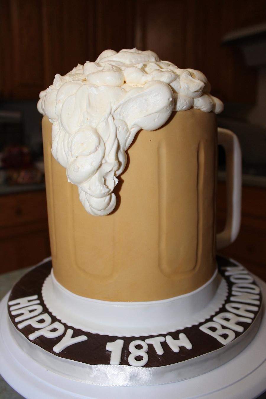 Beer Mug Cake  Beer Mug Cake CakeCentral