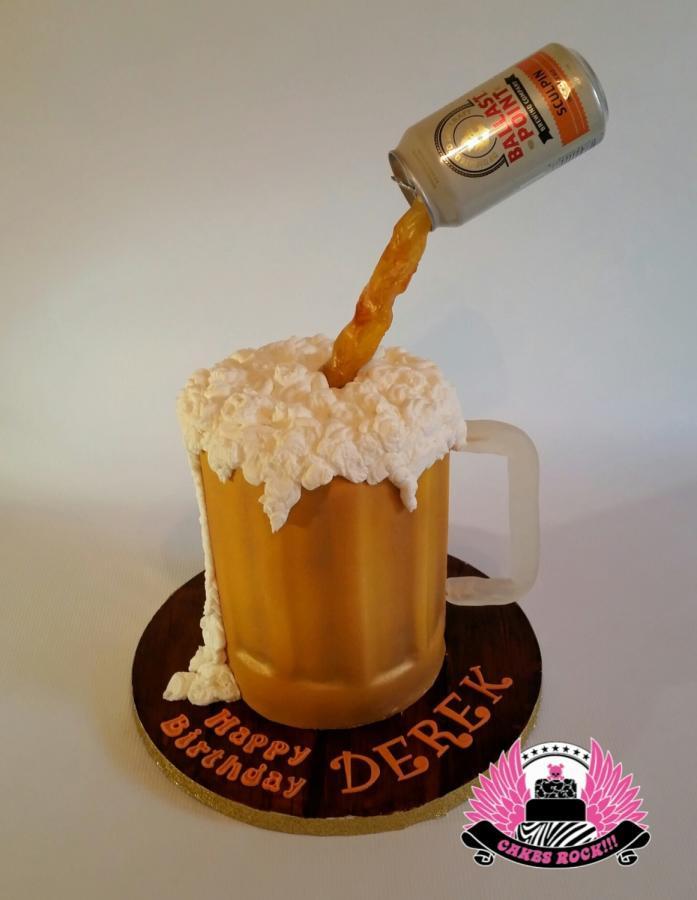 Beer Mug Cake  Gravity defying Beer Mug Cake Cake by Cakes ROCK