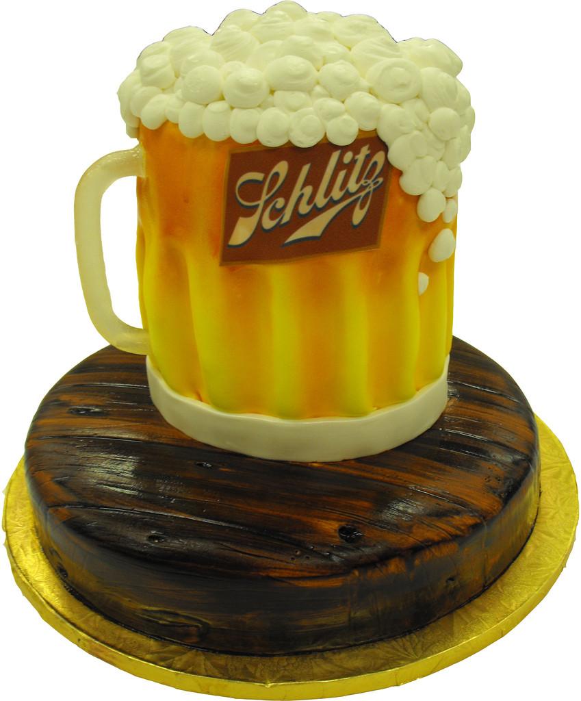 Beer Mug Cake  Schlitz Beer Mug