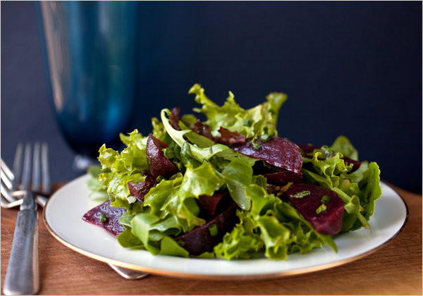 Beet Greens Salad  Mixed Spring Greens Salad With Roasted Beets The New