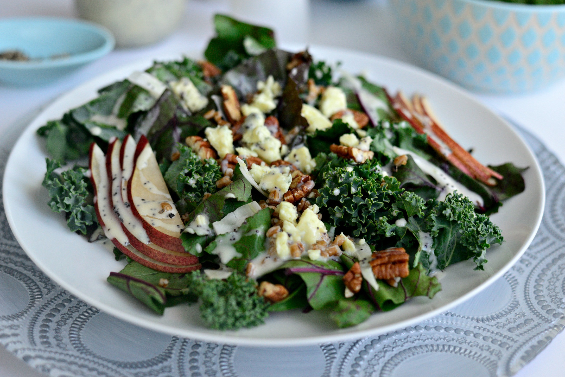 Beet Greens Salad  Simply Scratch Winter Kale and Beet Greens Salad with Pear