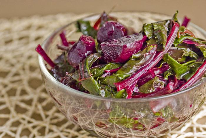 Beet Greens Salad  Mama Kourtesi s Beet and Green Salad NOURISH Evolution