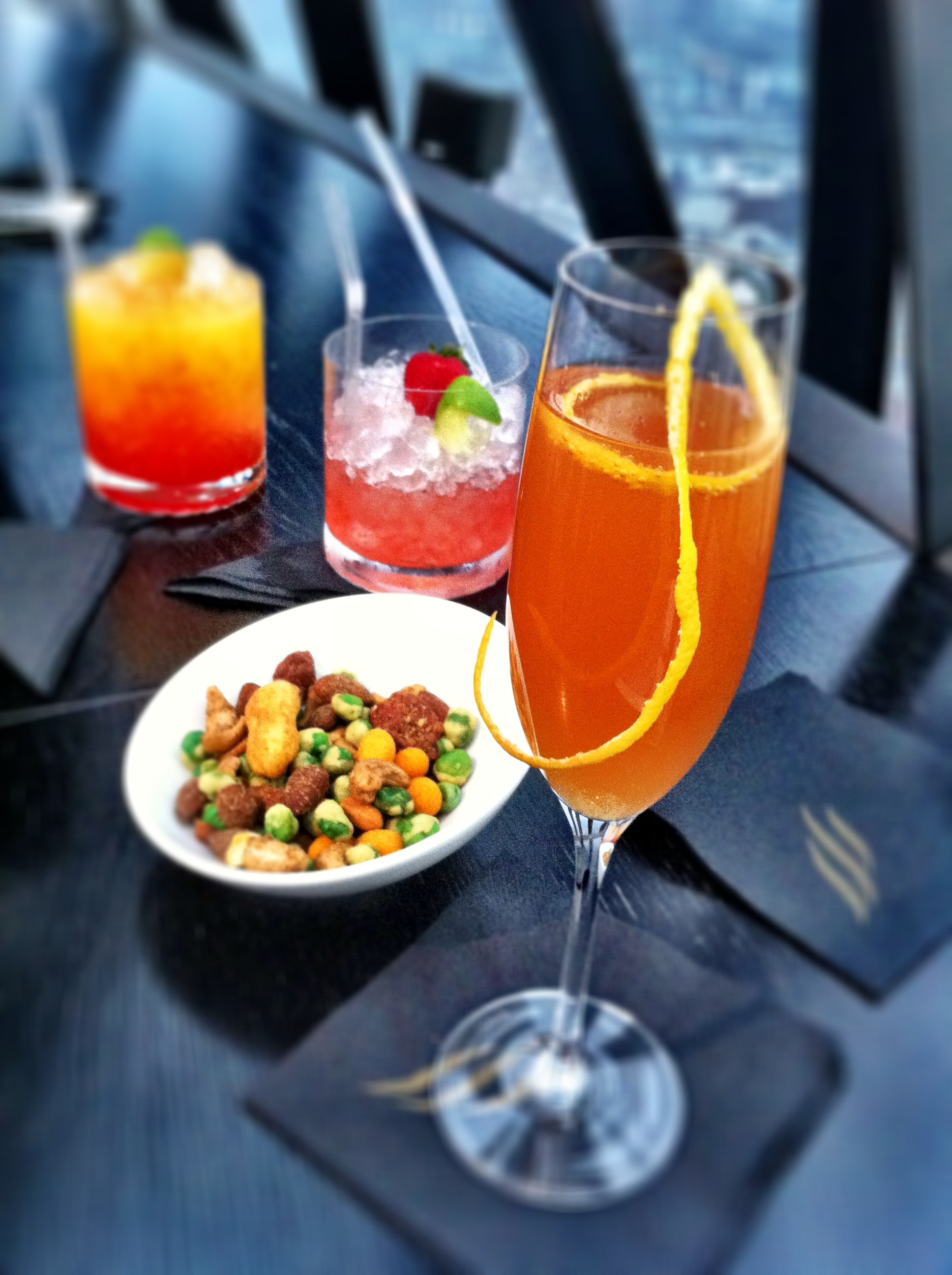 Before Dinner Drinks  A special night out at the Gherkin's 40 30 restaurant and