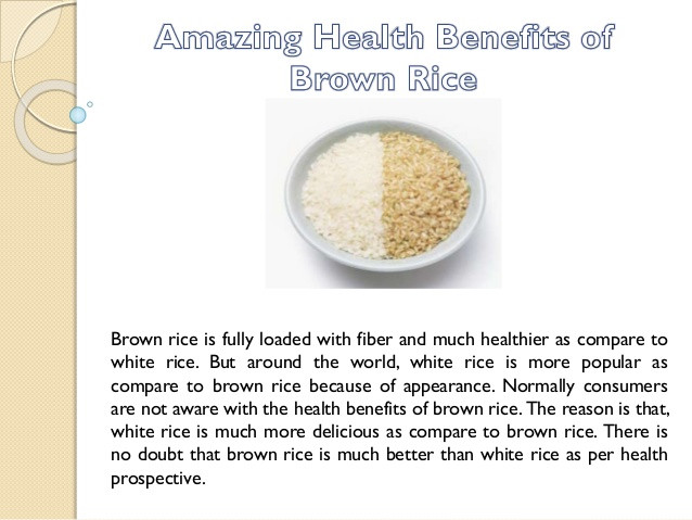 Benefits Of Brown Rice  Amazing Health Benefits of Brown Rice