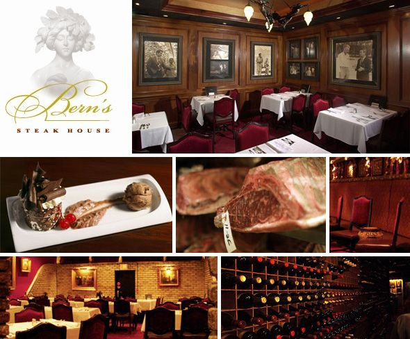 Berns Dessert Room  Bern's Steakhouse in Tampa Florida After dinner visit the