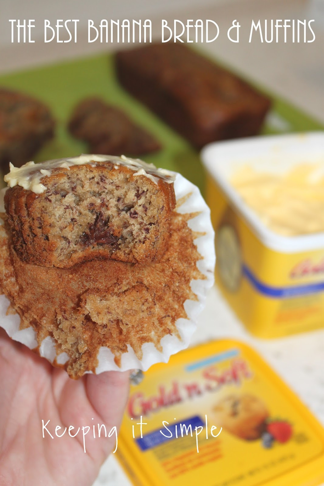 Best Banana Bread Muffins  The Best Banana Bread and Muffins Recipe • Keeping it Simple