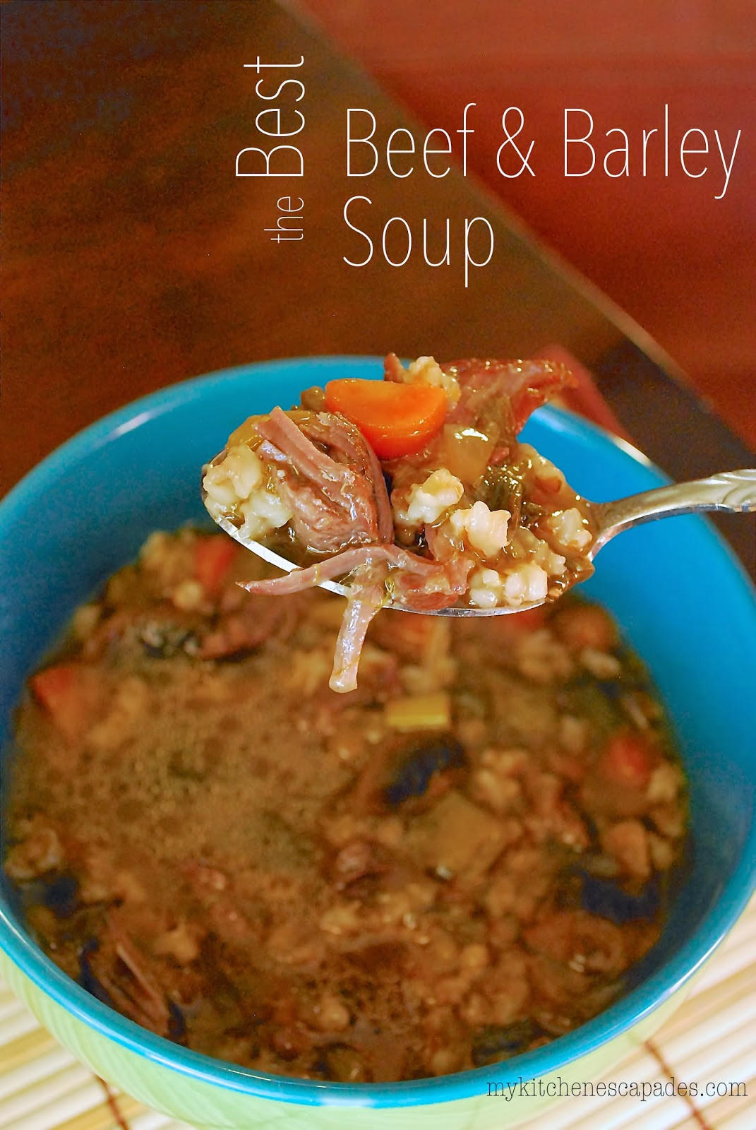 Best Beef Barley Soup Recipe  The Best Beef and Barley Soup