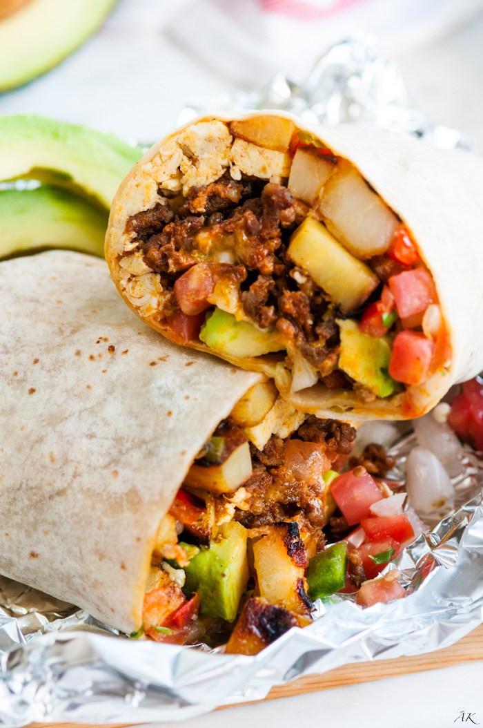 Best Breakfast Burritos  Epic Chorizo Breakfast Burrito Aberdeen s Kitchen