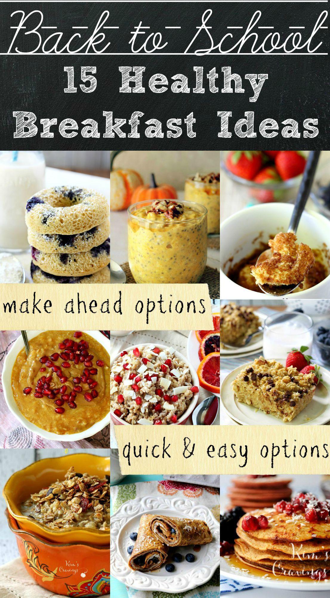 Best Breakfast For Kids Healthy Back to School Breakfast Ideas