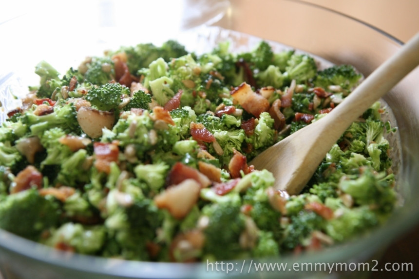 Best Broccoli Salad Recipe  Emmy Mom e Day at a Time Best Broccoli Salad Recipe