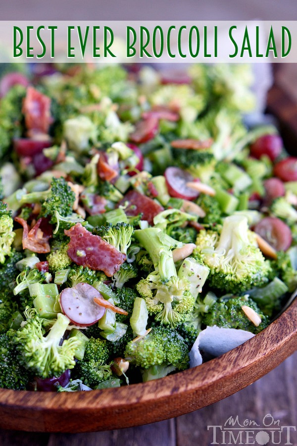 Best Broccoli Salad Recipe  Best Ever Broccoli Salad Mom Timeout