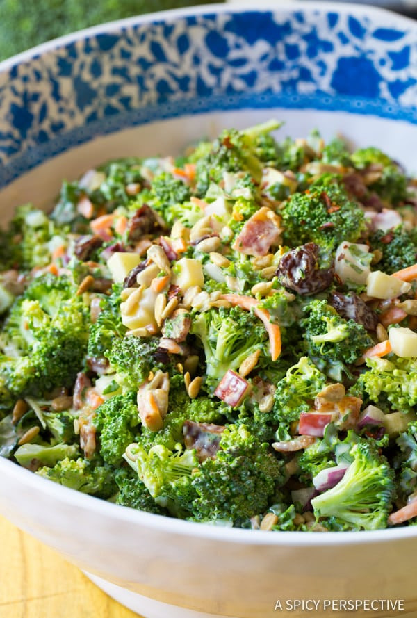 Best Broccoli Salad Recipe  The Best Broccoli Salad Recipe A Spicy Perspective