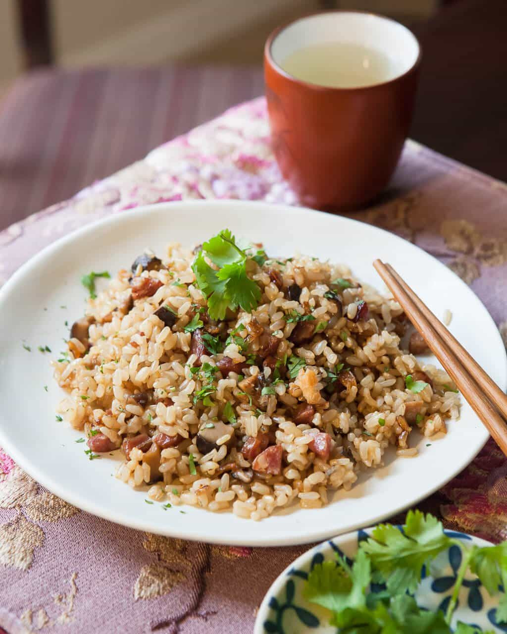 Best Brown Rice  Pressure Cooker Chinese Sausage with Brown Rice • Steamy
