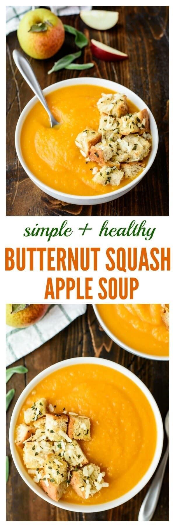 Best Butternut Squash Soup Recipe  best butternut squash soup with apple