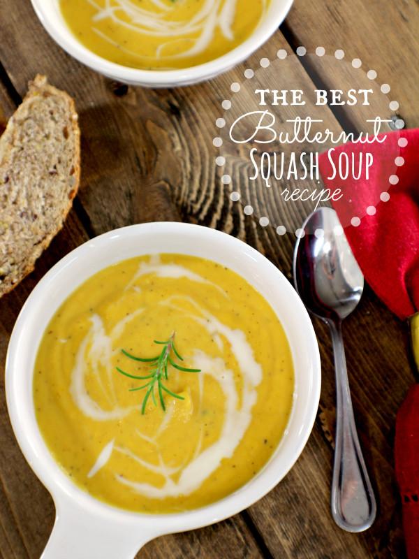 Best Butternut Squash Soup Recipe  Homemade Goodness