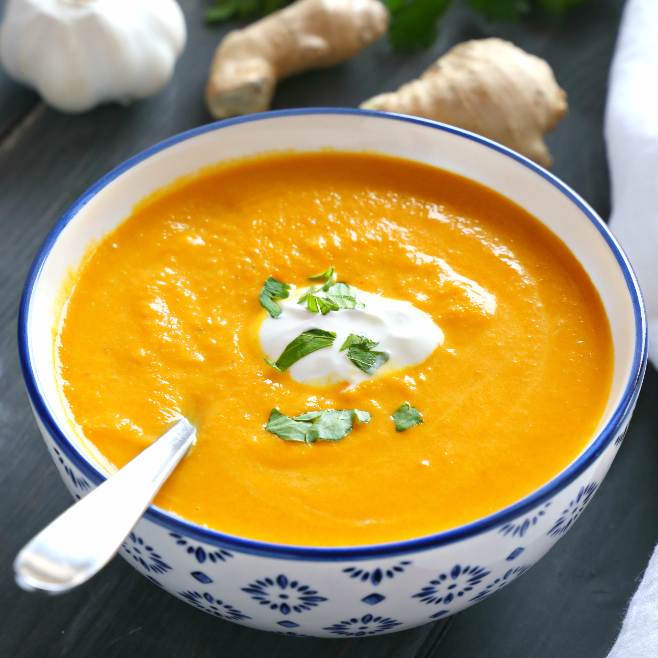 Best Carrot Soup Recipe  Best Ever Creamy Carrot Ginger Soup The Busy Baker