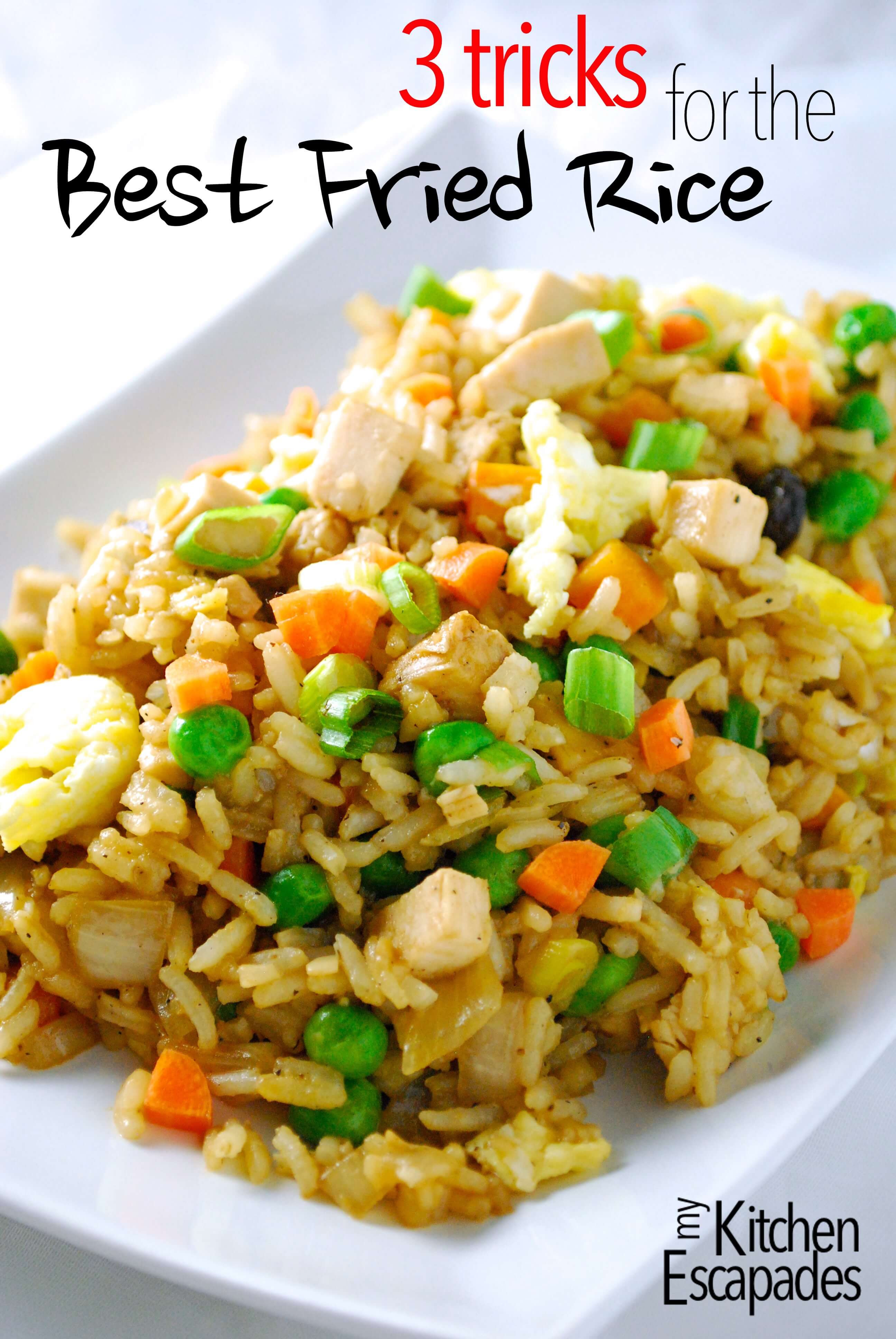 Best Chicken Fried Rice Recipe  Chicken Fried Rice Recipe 3 Tricks to the Best Take Out