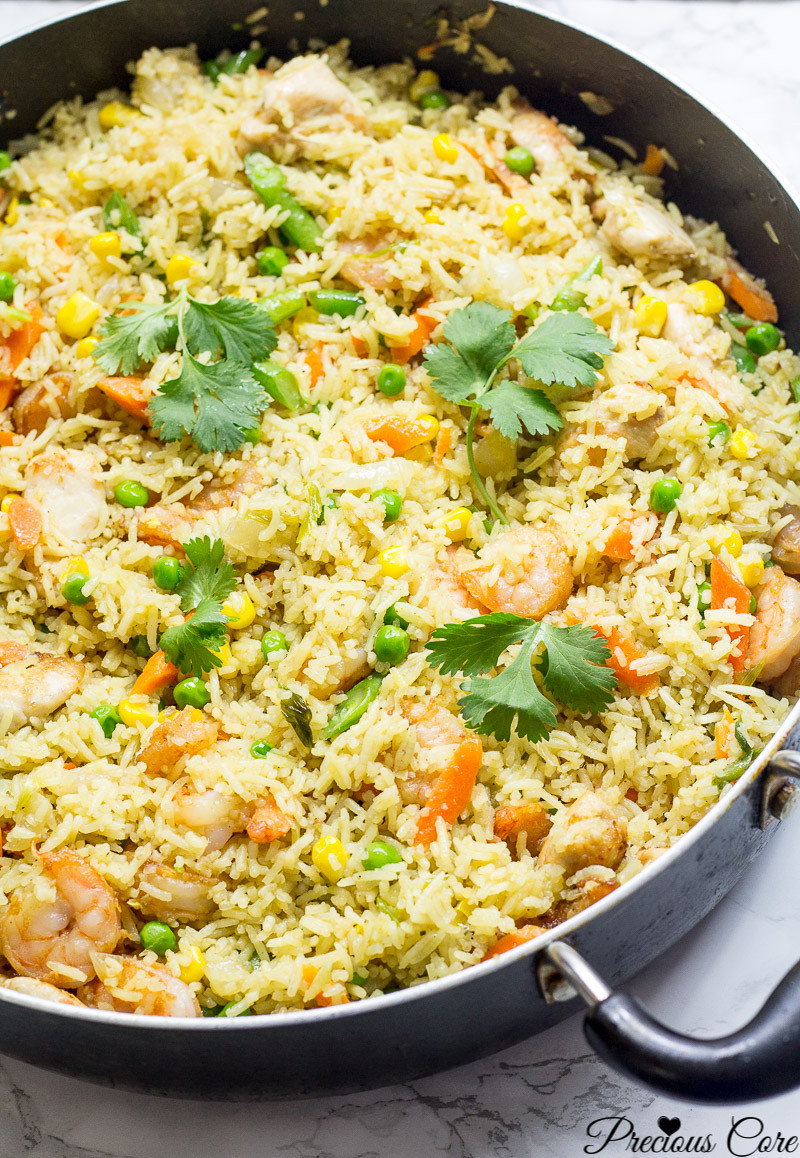 Best Chicken Fried Rice Recipe  CHICKEN AND SHRIMP FRIED RICE AFRICAN STYLE