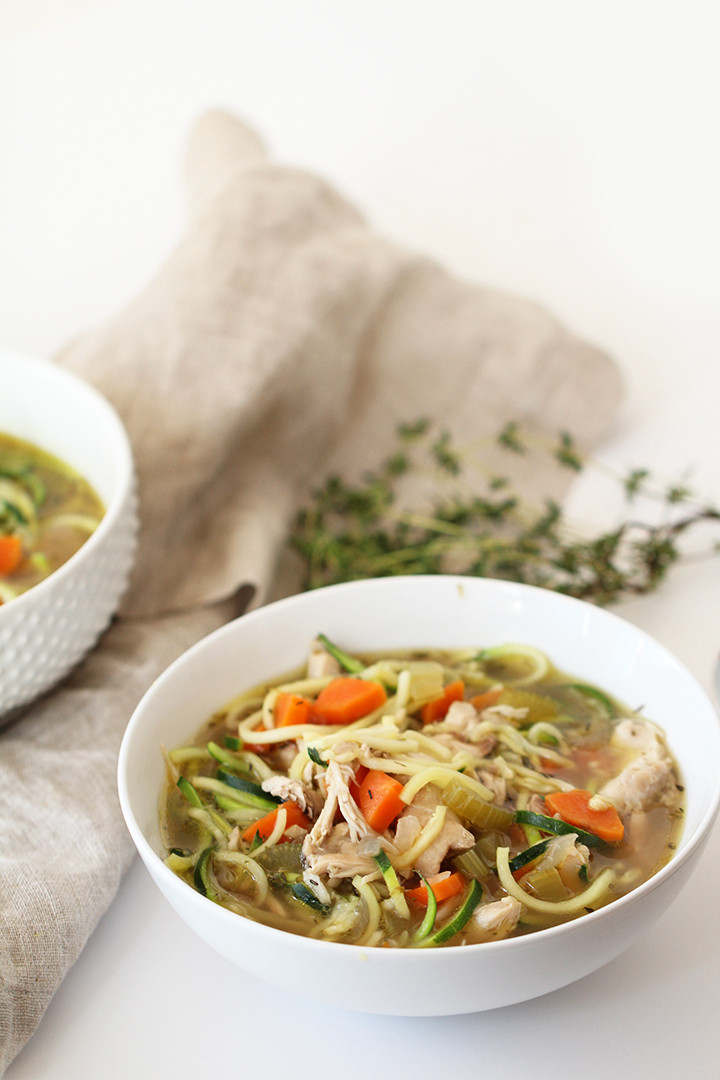 Best Chicken Noodle Soup  The Best Chicken Zucchini Noodle Soup Ever Inspiralized