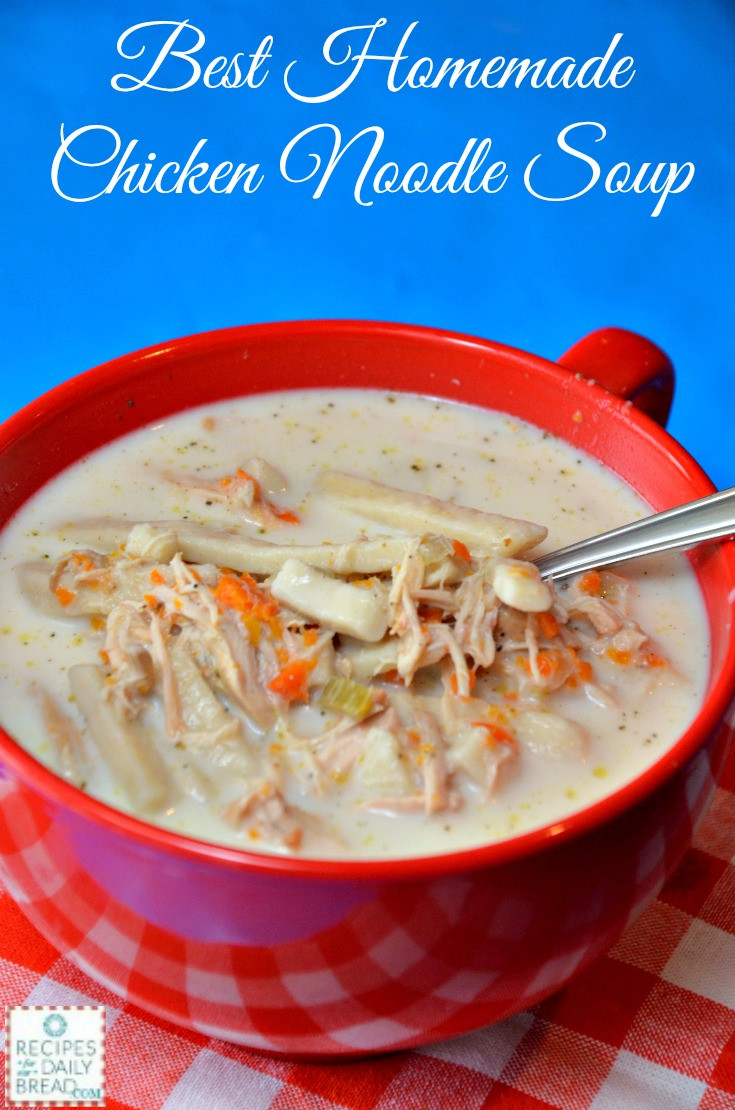 Best Chicken Noodle Soup Recipe  YOU NEED THIS BEST CHICKEN NOODLE SOUP SLOW COOKER