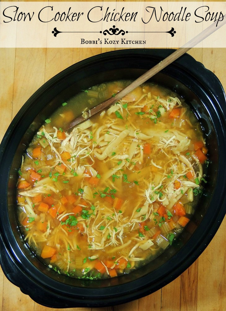 Best Chicken Noodle Soup  Slow Cooker Chicken Noodle Soup