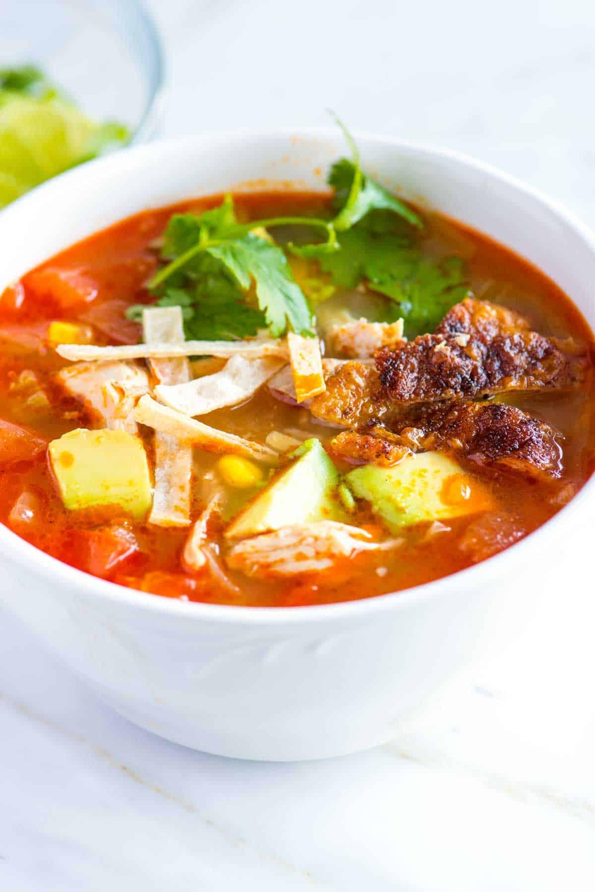 Best Chicken Tortilla Soup  Easy Chicken Tortilla Soup Recipe from Scratch