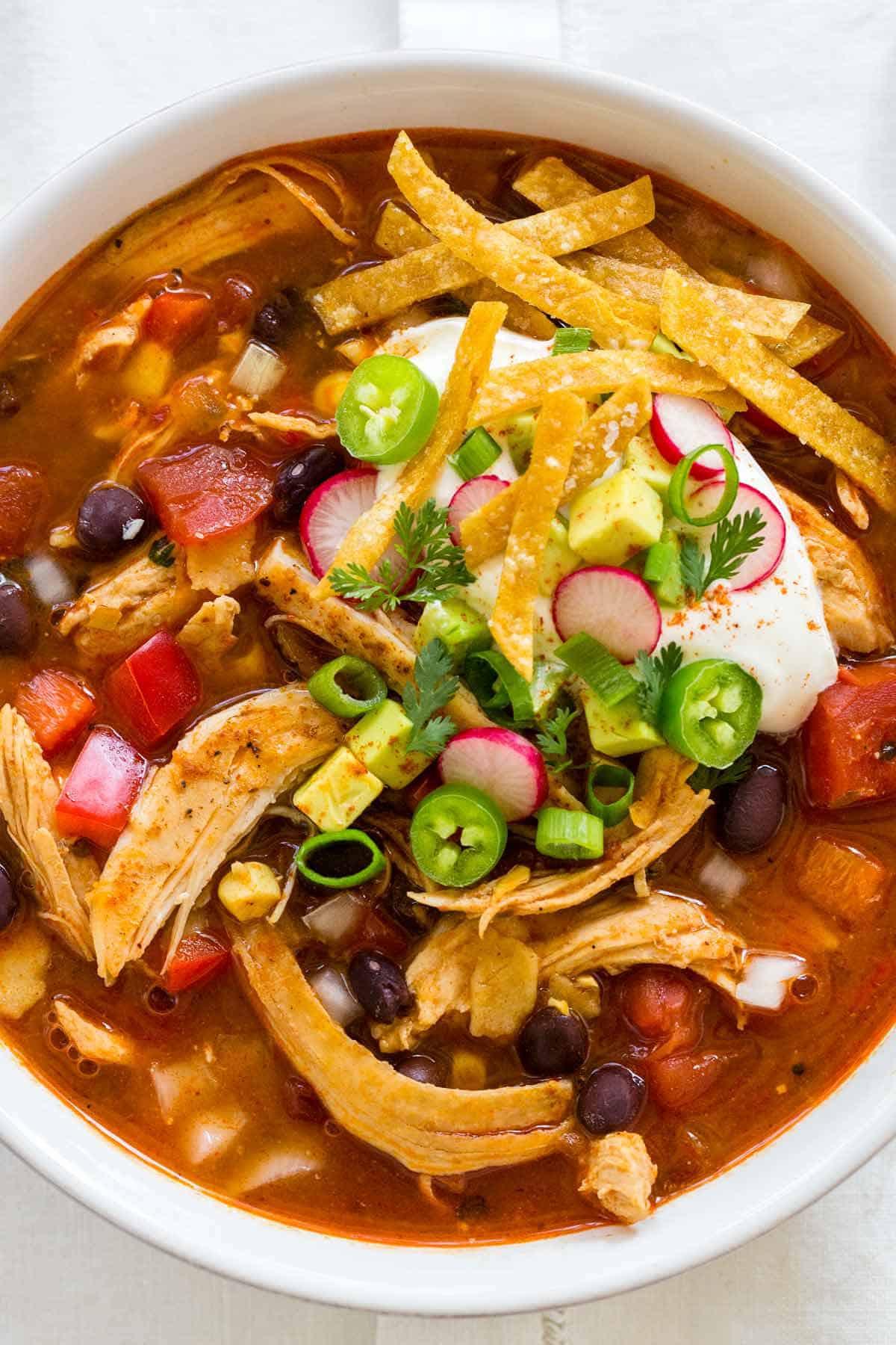 Best Chicken Tortilla Soup  Chicken Tortilla Soup Recipe