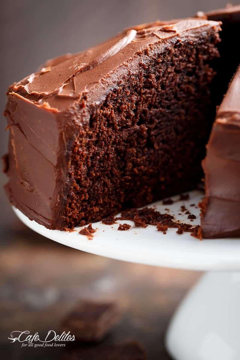 Best Chocolate Cake Best Fudgy Chocolate Cake Cafe Delites