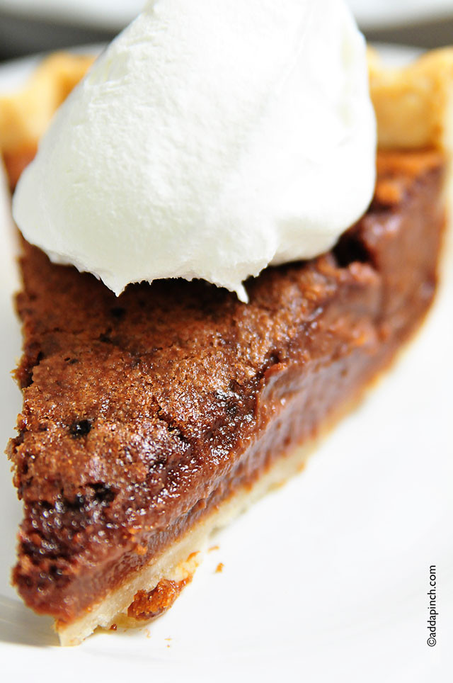 Best Chocolate Pie Recipe  Chocolate Chess Pie Recipe Add a Pinch