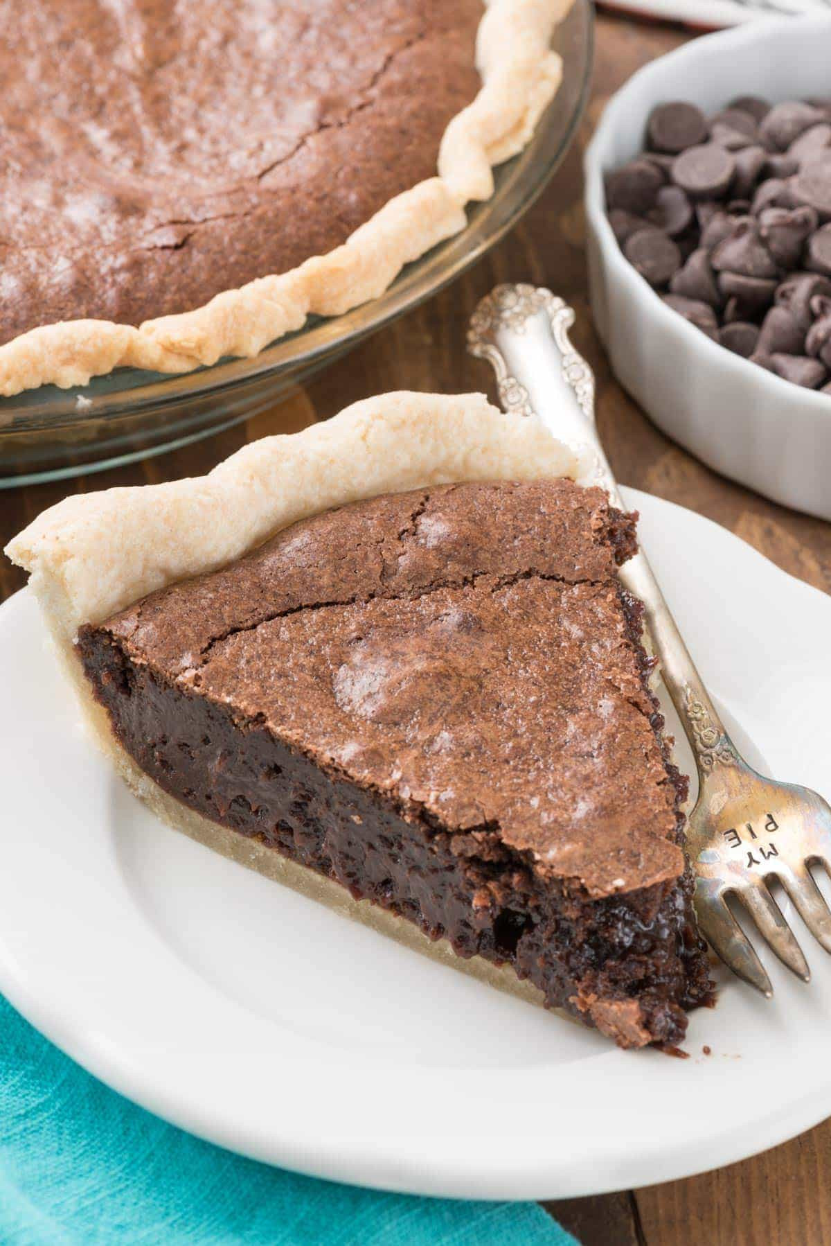 Best Chocolate Pie Recipe  The BEST Brownie Pie from scratch Crazy for Crust