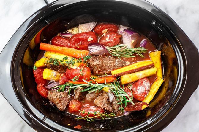 Best Crockpot Beef Stew  Rustic Italian Beef Stew in Crock Pot