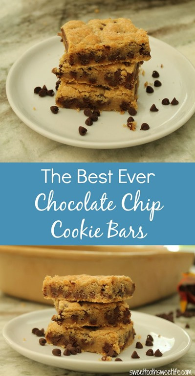 Best Ever Chocolate Chip Cookies  The Best Ever Chocolate Chip Cookie Bars