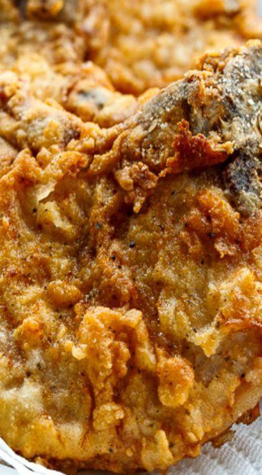 Best Fried Pork Chops  Best 25 Southern food ideas on Pinterest