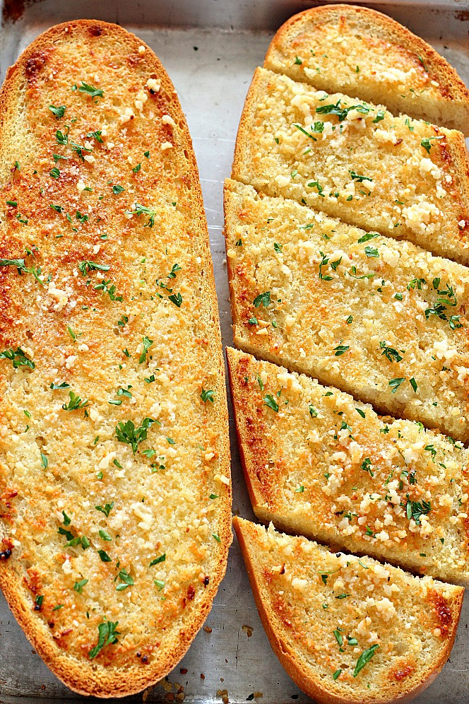 Best Garlic Bread  Easy Garlic Bread Recipe Crunchy Creamy Sweet