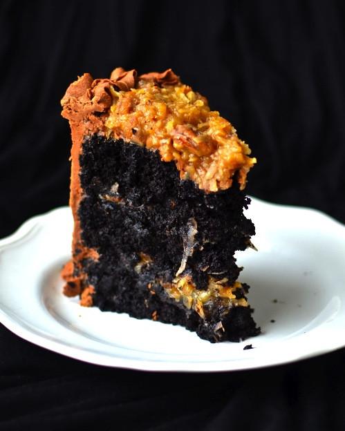 Best German Chocolate Cake  Yammie s Noshery The Best German Chocolate Cake in All