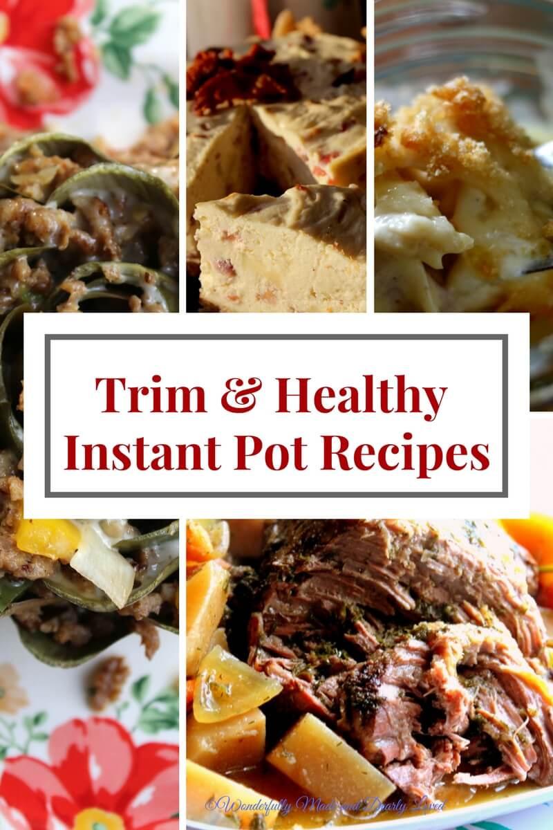 Best Healthy Instant Pot Recipes  Trim & Healthy Instant Pot Recipes Wonderfully Made and
