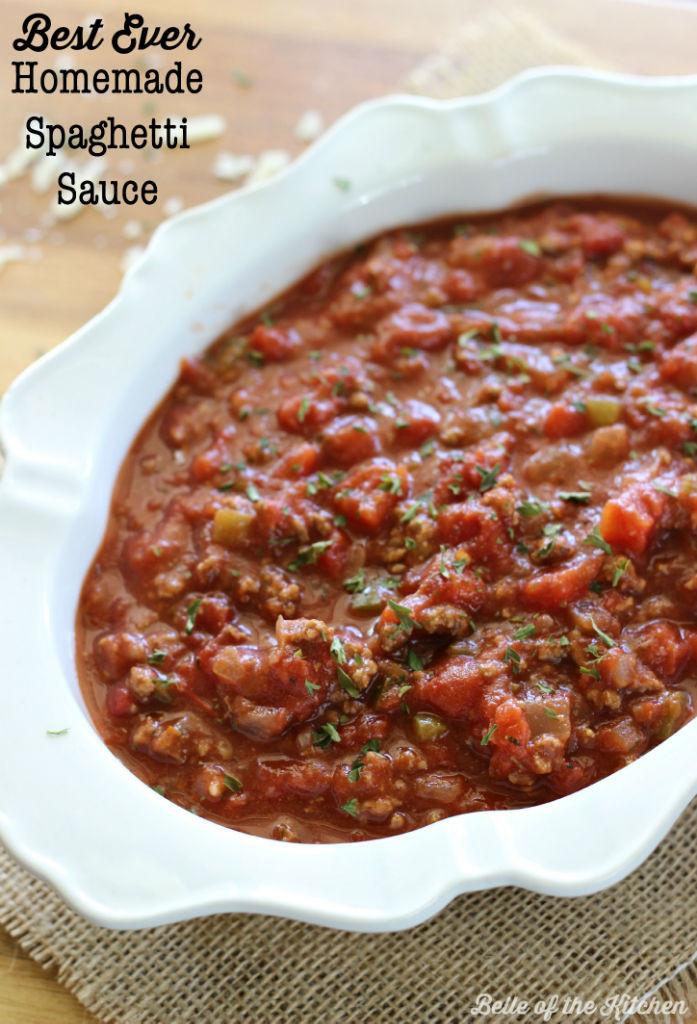 Best Homemade Spaghetti Sauce  Best Ever Homemade Spaghetti Sauce